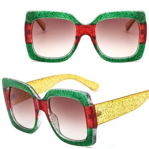 Accessories - Luxe Color Crystal Sunglasses